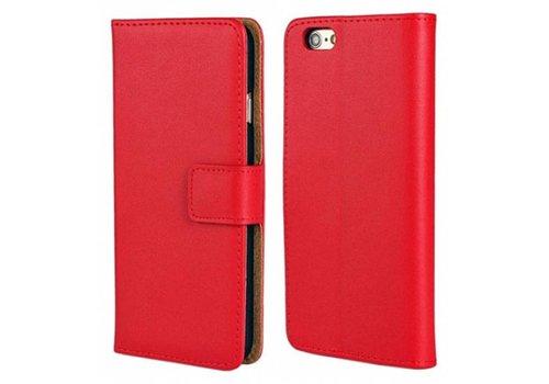 Movizy lederen walletcase iPhone SE 2020/7/8 - rood