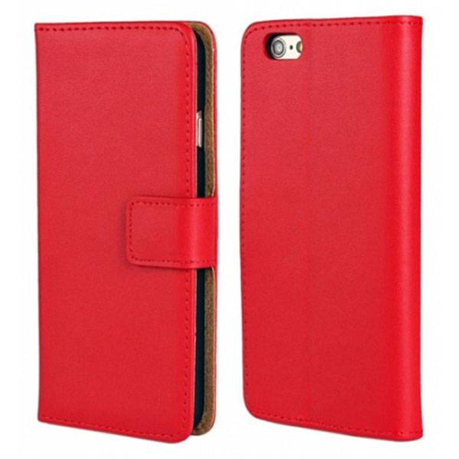 Movizy lederen walletcase iPhone SE 2020/7/8 - rood-1