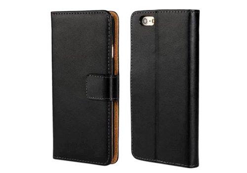 Movizy lederen walletcase iPhone SE 2020/7/8 - zwart