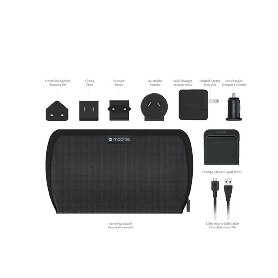 Mophie Charge Stream Global Travel Kit black-1