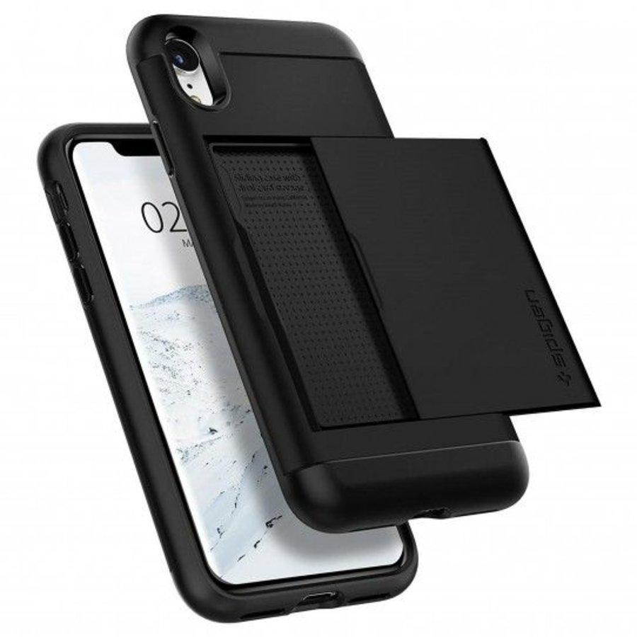 Spigen Slim Armor CS voor de iPhone XR Zwart-1