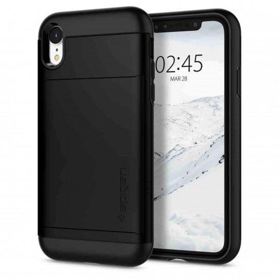 Spigen Slim Armor CS voor de iPhone XR Zwart-2
