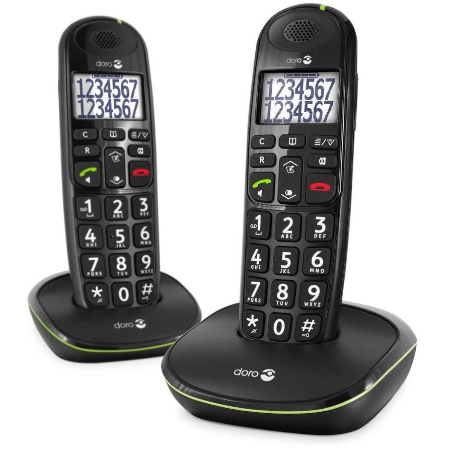 Doro PhoneEasy 110 Duo Dect Black-1