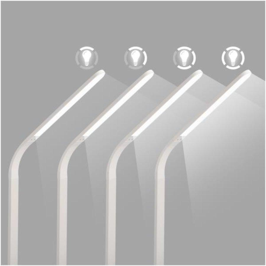 Celly LED-bureaulamp met draadloos laadstation - wit-5