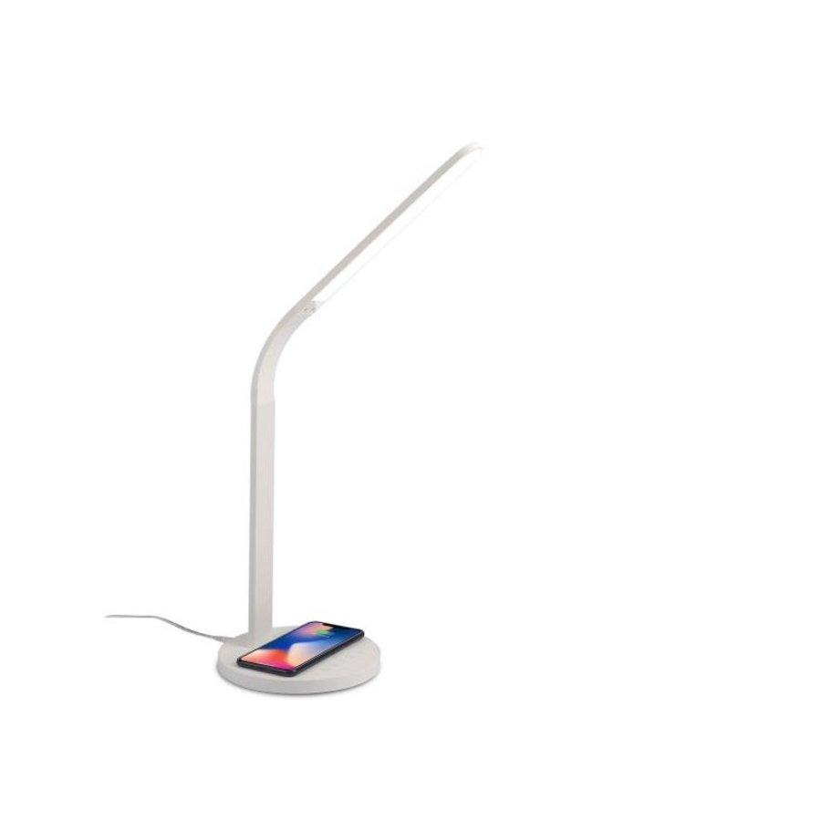Celly LED-bureaulamp met draadloos laadstation - wit-1