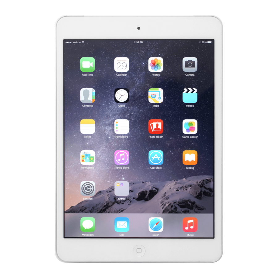 Refurbished iPad Mini 4 Wit 16GB Wifi + 4G-1