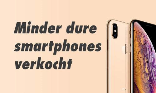 Steeds minder nieuwe smartphones verkocht