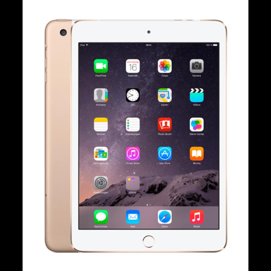 Refurbished iPad Mini 3 Goud 16GB Wifi + 4G-3