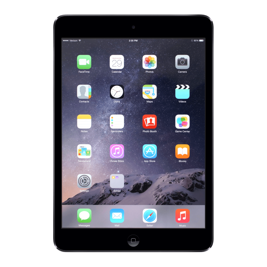 Refurbished iPad Mini 3 Zwart 16GB Wifi + 4G-1