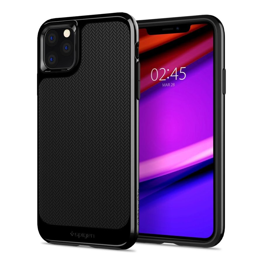 Spigen Neo Hybrid for iPhone 11 Pro shiny black-1