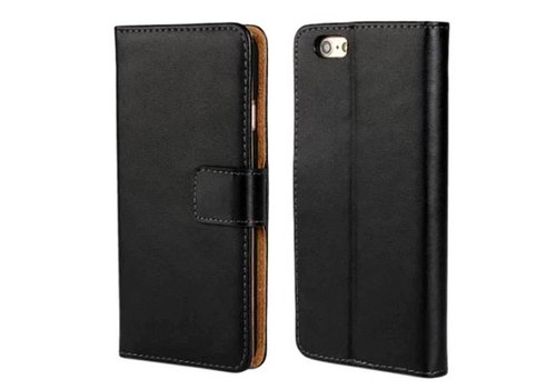 Movizy lederen walletcase iPhone 6(S) - zwart