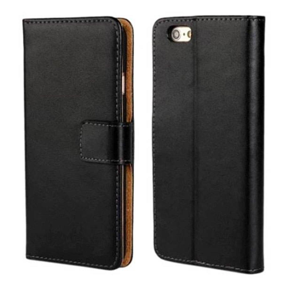 Movizy lederen walletcase iPhone 6(S) - zwart-1