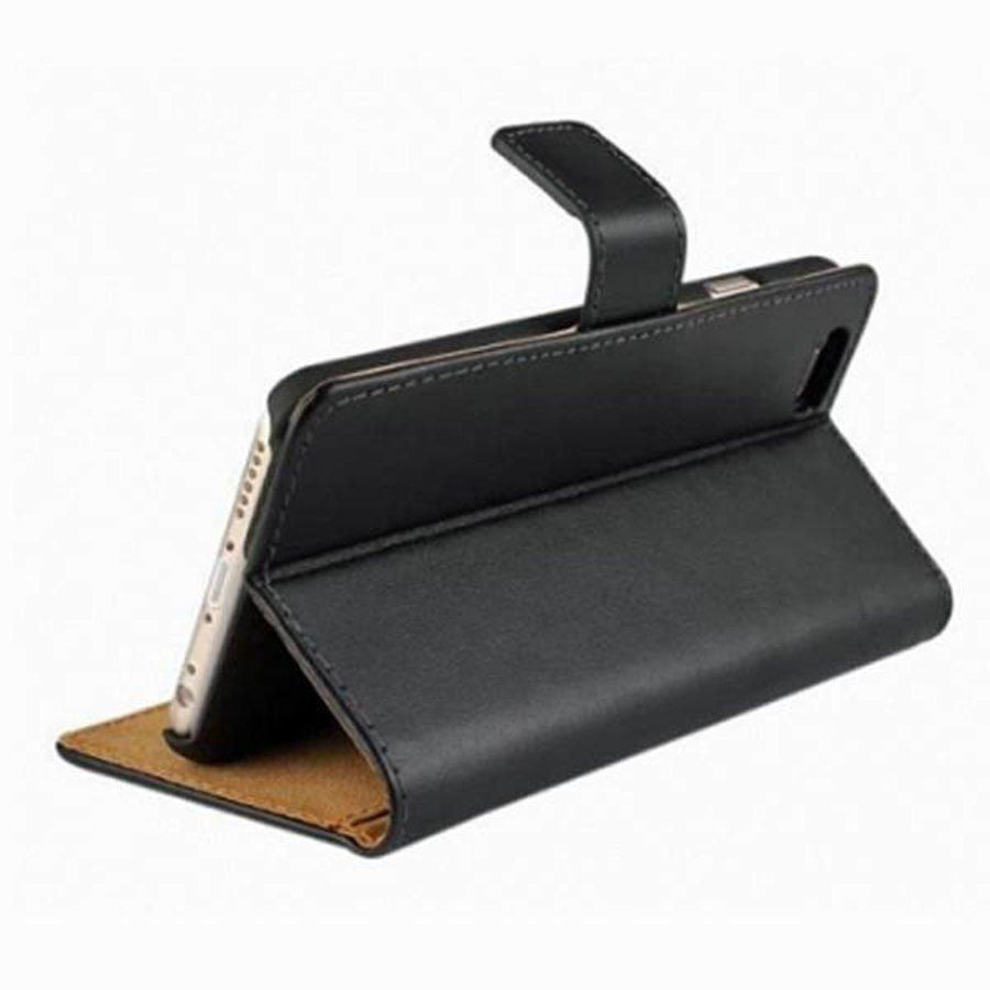 Movizy lederen walletcase iPhone 6(S) - zwart-2