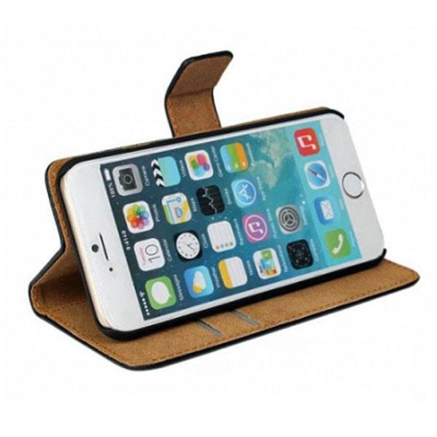 Movizy lederen walletcase iPhone 6(S) - zwart-3