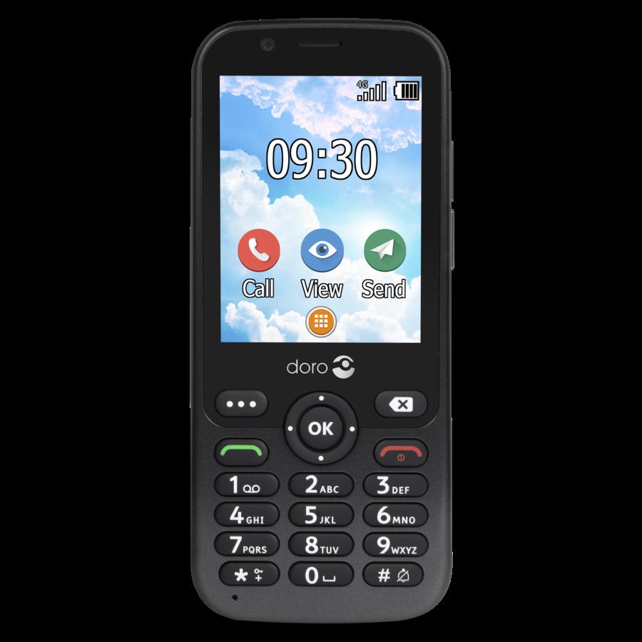 Doro 7010 seniorentelefoon - zwart-1