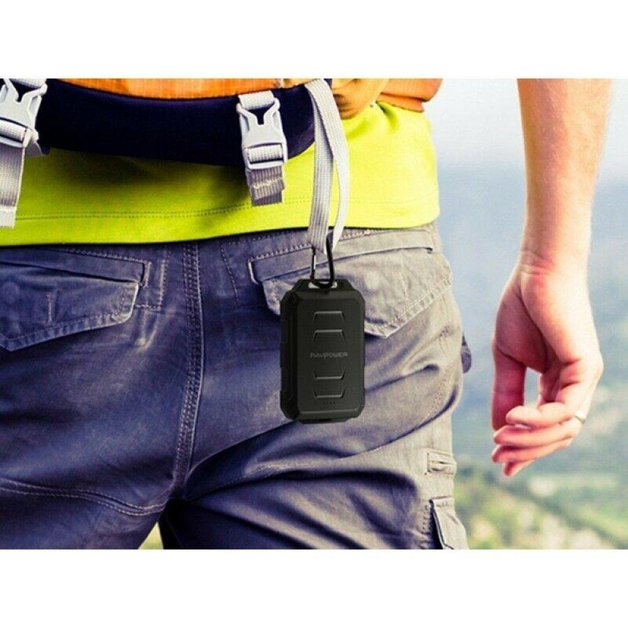 RAVPower 10.050mAh Rugged Portable Powerbank RP-PB044 (Black)-5