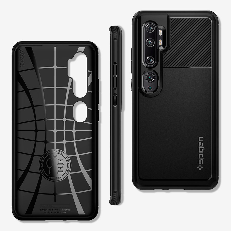 Spigen Rugged Armor for Mi Note 10 / 10 Pro matt black-1