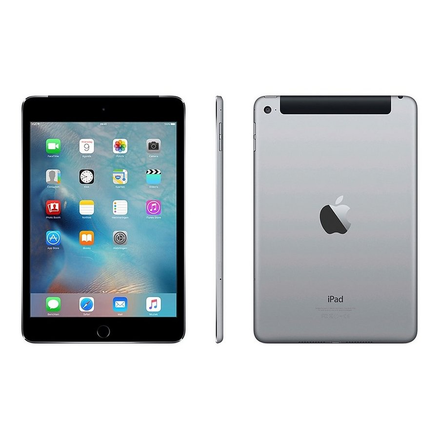 Refurbished iPad Mini 4 Zwart 64GB Wifi + 4G-1