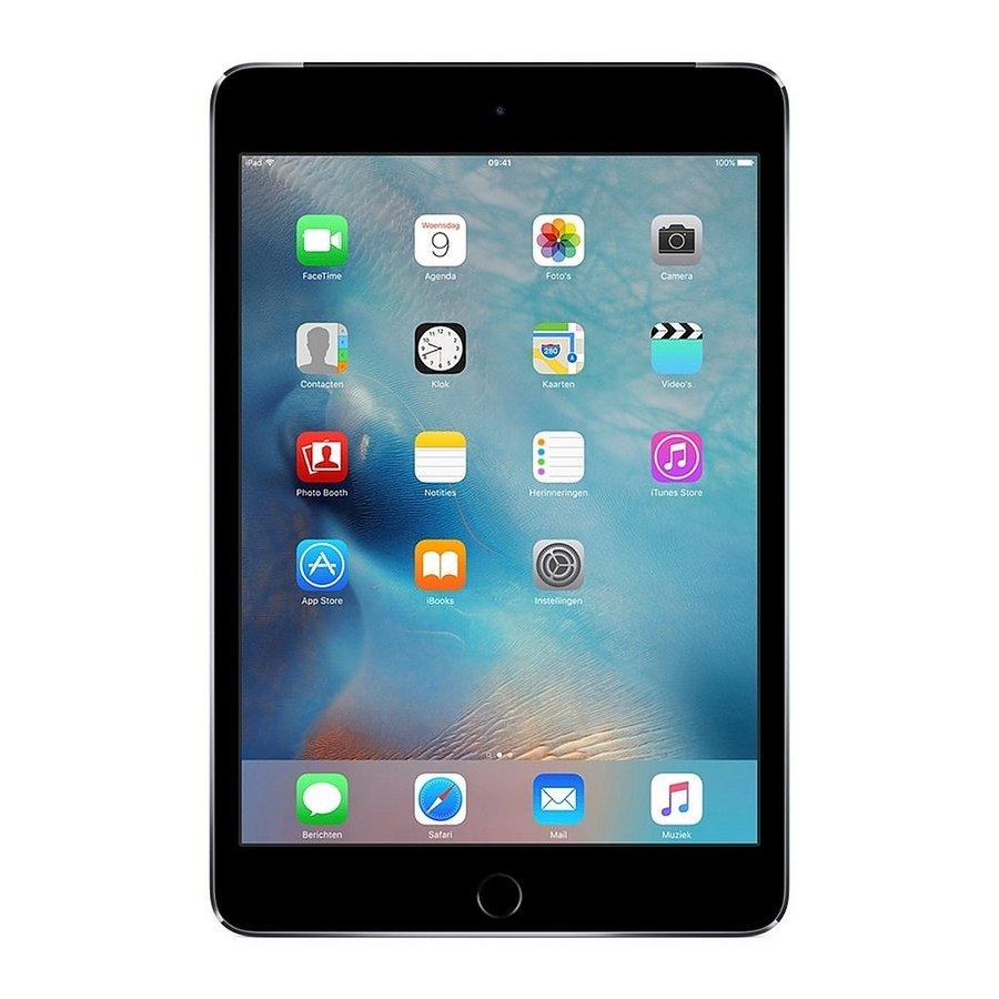 Refurbished iPad Mini 4 Zwart 64GB Wifi + 4G-2