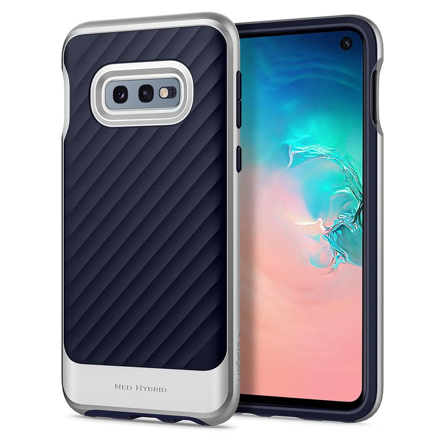 Spigen Neo Hybrid for Galaxy S10e silver colored-1