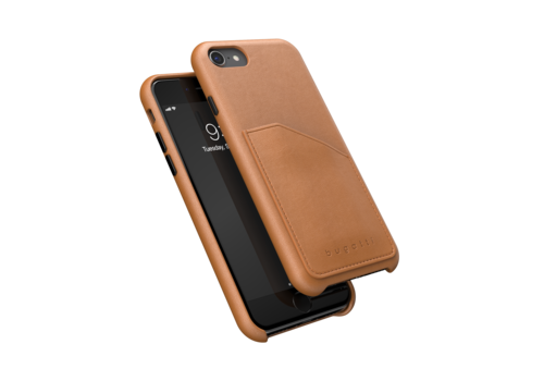bugatti Londra Full Wrap With Pocket Case FW20 for IPhone 6/6s/7/8/SE 2G cognac