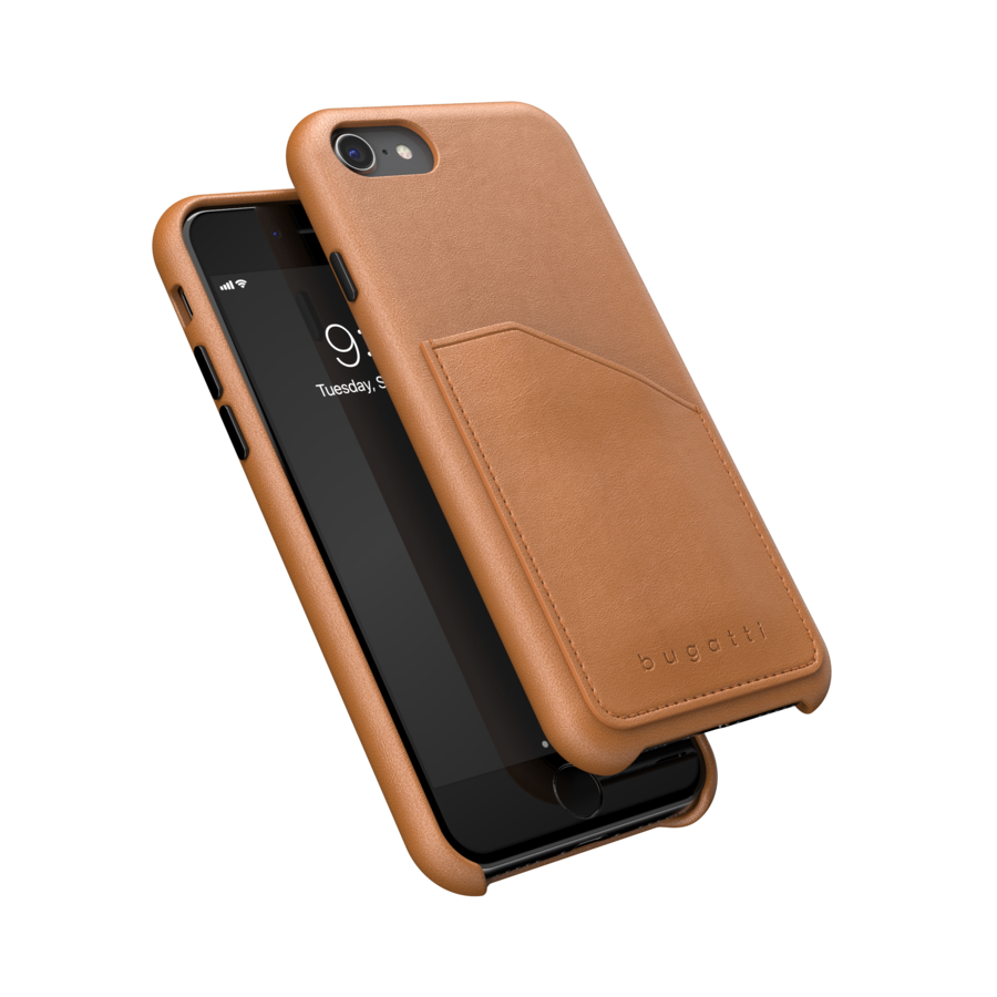 bugatti Londra Full Wrap With Pocket Case FW20 for IPhone 6/6s/7/8/SE 2G cognac-1