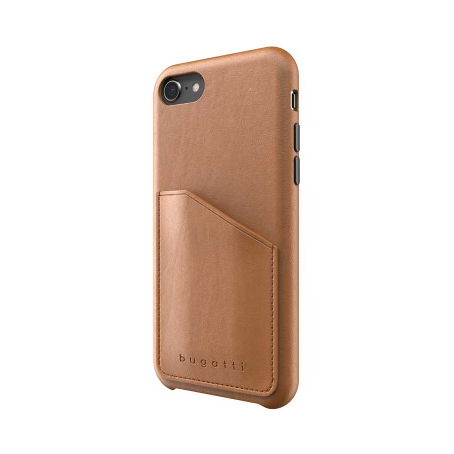 bugatti Londra Full Wrap With Pocket Case FW20 for IPhone 6/6s/7/8/SE 2G cognac-3