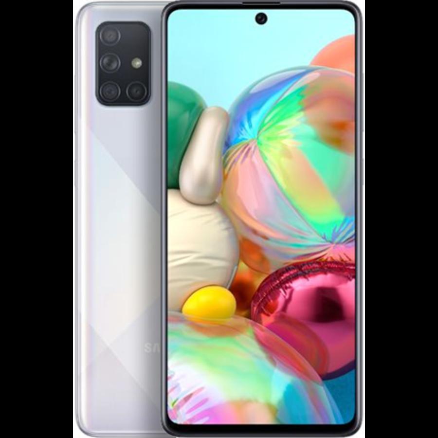 Samsung Galaxy A71 Dual Sim A715F 128GB Silver Beschadigde Doos (128GB Silver Beschadigde Doos)-1