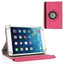 7 inch tablet hoes 360 graden draaibaar roze - universeel