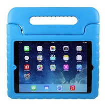 iPad 9.7 (2017/2018) hoes - Schokbestendige case met handvat - Licht Blauw