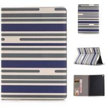 iPad Mini 4 Wallet Case met Strepen Blauw Groen