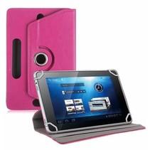 Universele 8 inch tablet hoes 360 graden draaibaar magenta