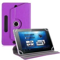 Universele 8 inch tablet hoes 360 graden draaibaar paars