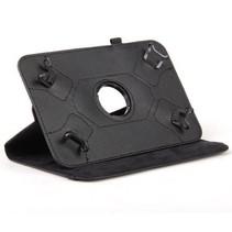 Universele 7 inch tablet hoes 360 graden draaibaar zwart