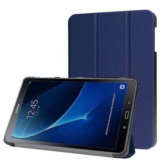 Case2go Samsung Galaxy Tab A 10.1 Tri-Fold Book Case Donker Blauw