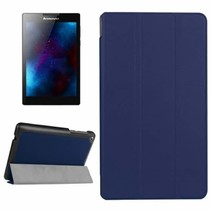 Lenovo Tab 3 7 Essential hoes - Tri-Fold Book Case Donker Blauw
