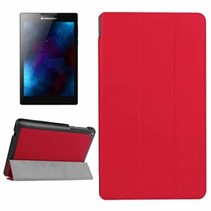 Lenovo Tab 3 7 Essential hoes - Tri-Fold Book Case Rood