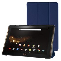 Acer Iconia Tab 10 A3-A40 Tri-Fold Book Case Donker Blauw