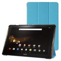Acer Iconia Tab 10 A3-A40 Tri-Fold Book Case Licht Blauw