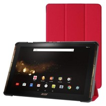 Acer Iconia Tab 10 A3-A40 Tri-Fold Book Case Rood