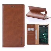 LG V10 Blue Moon Wallet Case Bruin