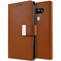 LG G5 Rich Diary Wallet Case Bruin