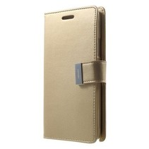 HTC Desire 626 / 626S Rich Diary Wallet Case Goud
