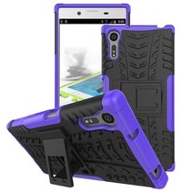 Schokbestendige Back Cover voor Sony Xperia XZ - Paars