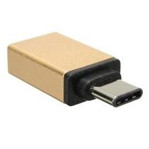 USB 3.1 Type C naar USB 3.0 OTG Adapter voor o.a. iPhone, Macbook en Chromebook - Goud
