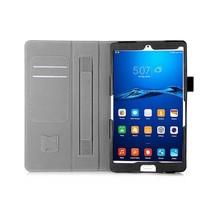 Huawei Mediapad M3 Hand Strap Book Case Zwart