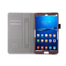 Huawei Mediapad M3 Hand Strap Book Case Bruin