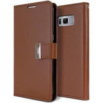 Samsung Galaxy S8 Plus Rich Diary Wallet Case Bruin