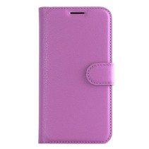 Samsung Galaxy S7 Edge - Litchi Wallet Case - Paars