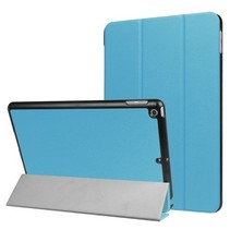 iPad 9.7 - Tri-Fold Book Case - Licht Blauw